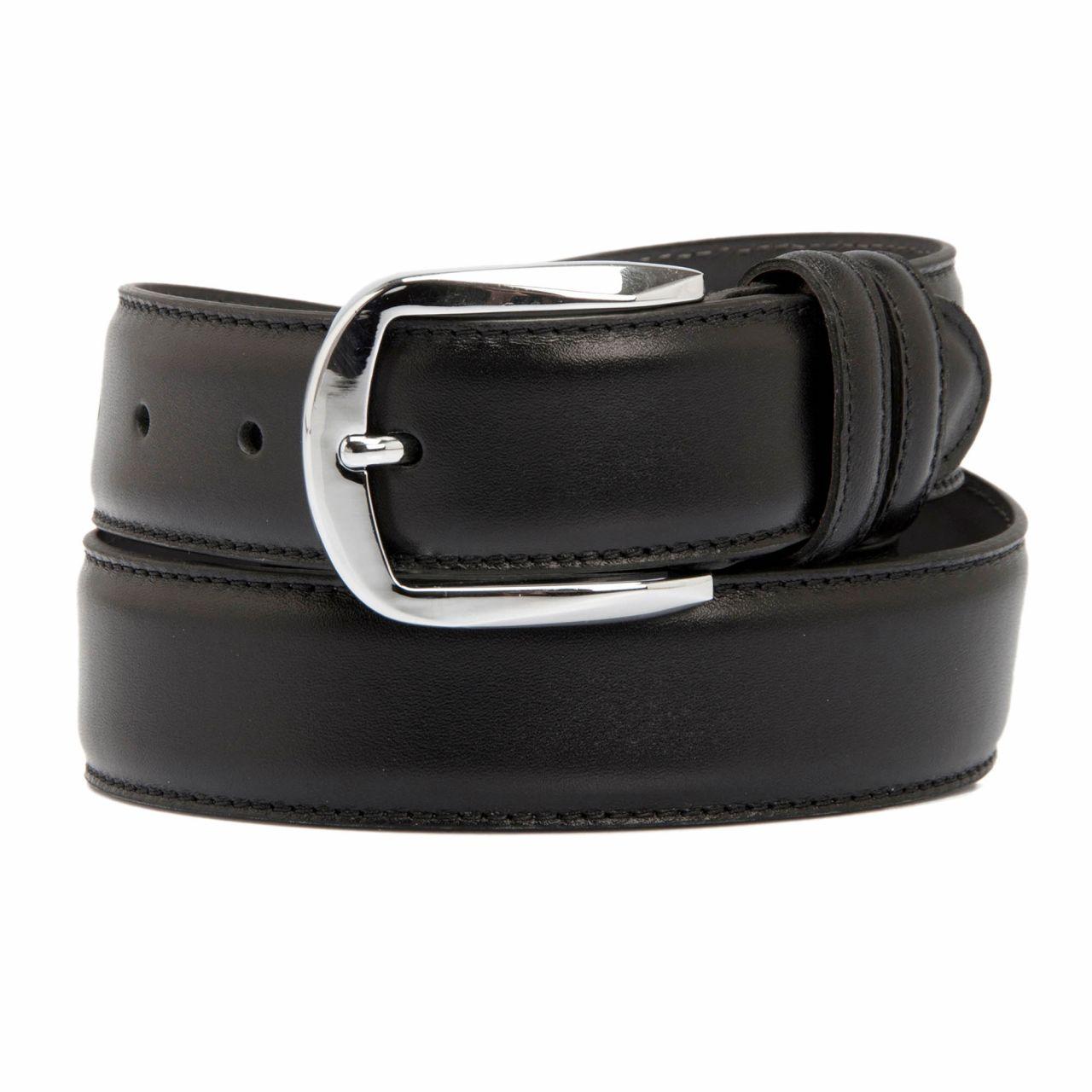 Black men's belt for formal events