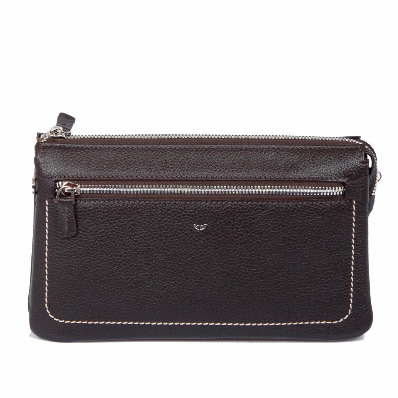Ръчна чанта за мъже от естествена кожа с две дръжки