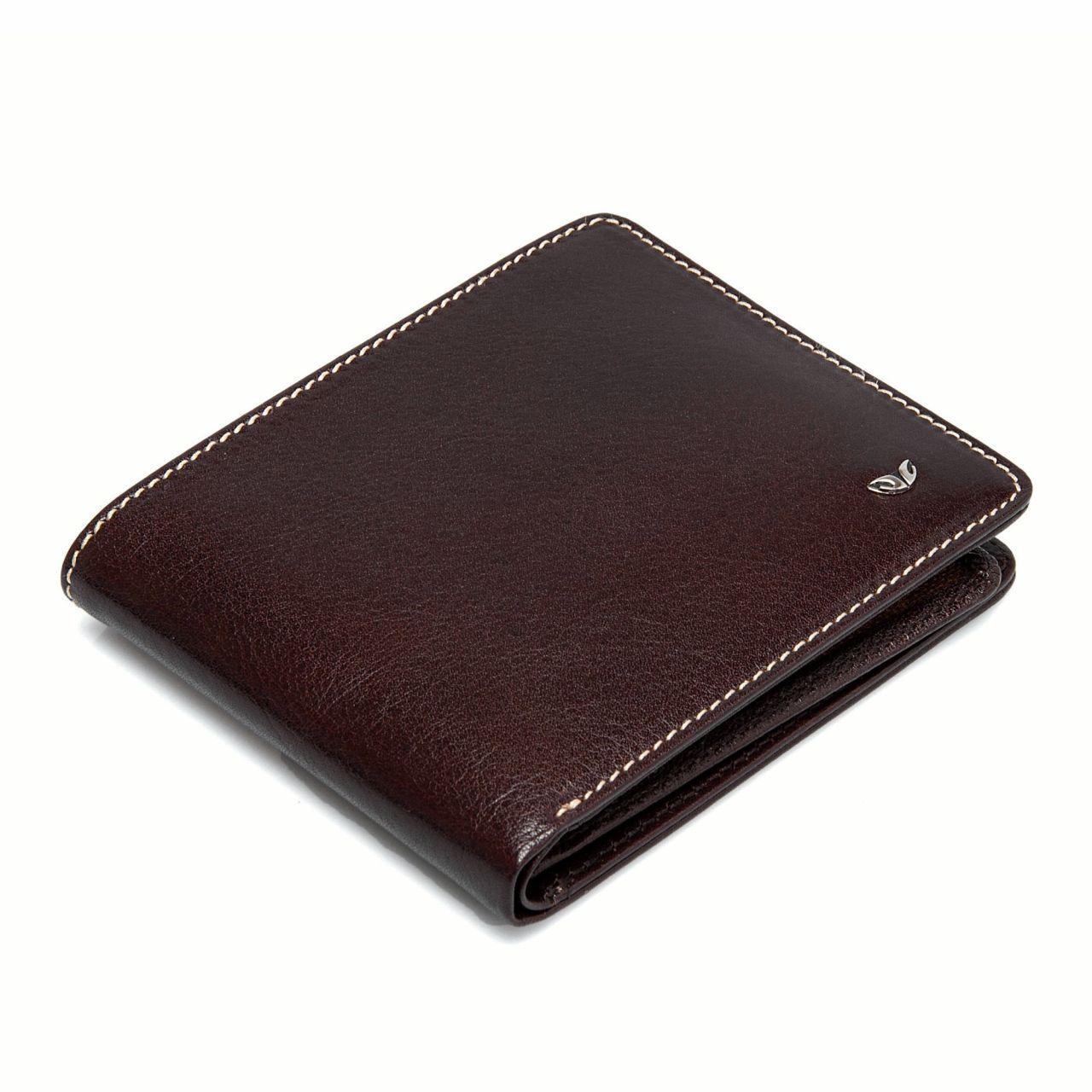 Кафяв мъжки портфейл от естествена кожа