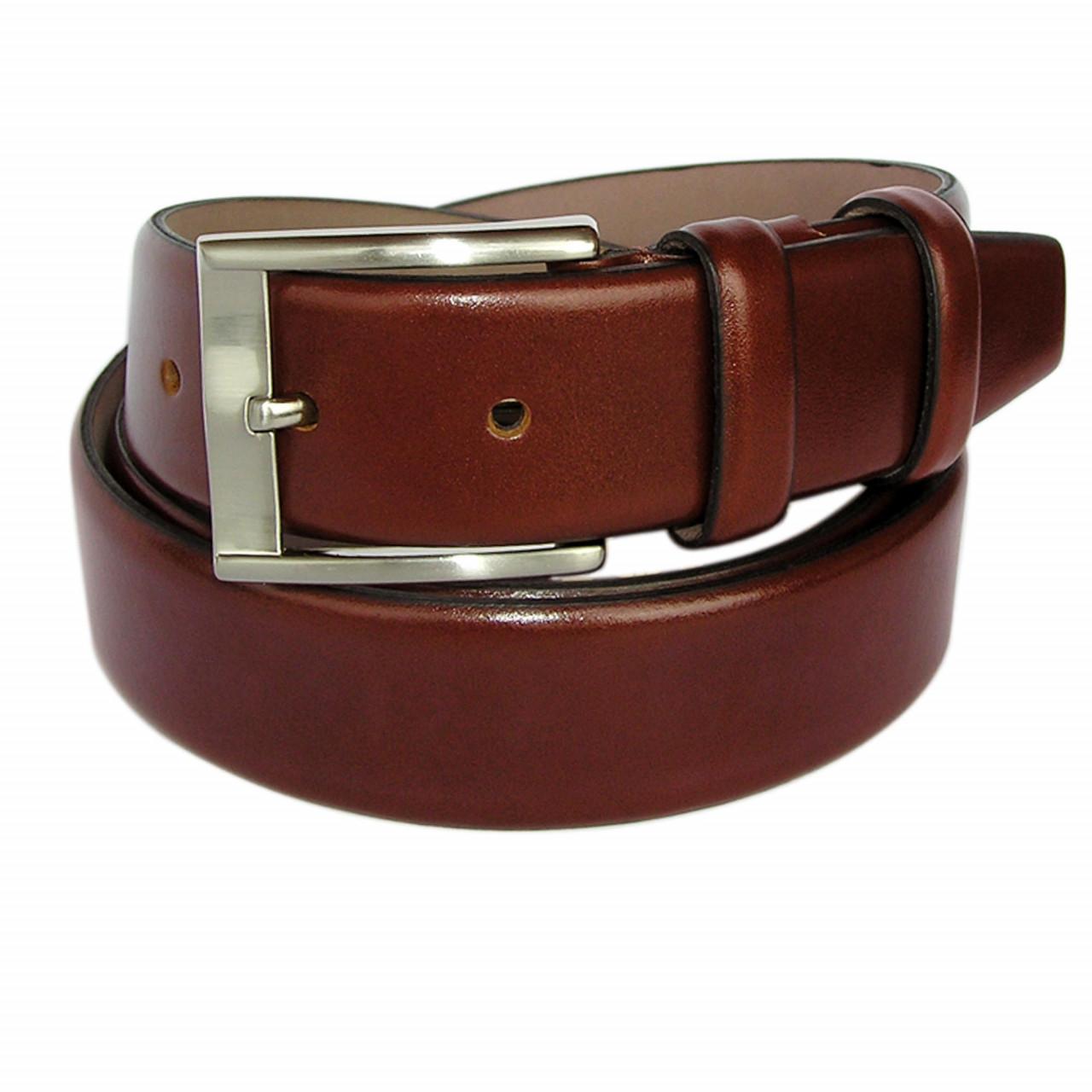 Genuine leather red bordeaux belt