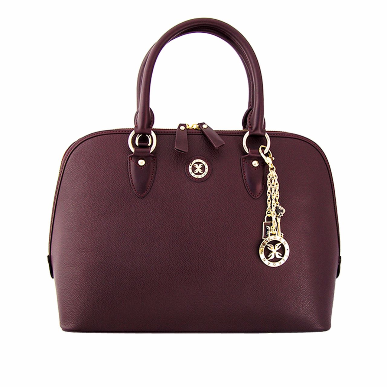 Leather Office Bag in Bordeaux