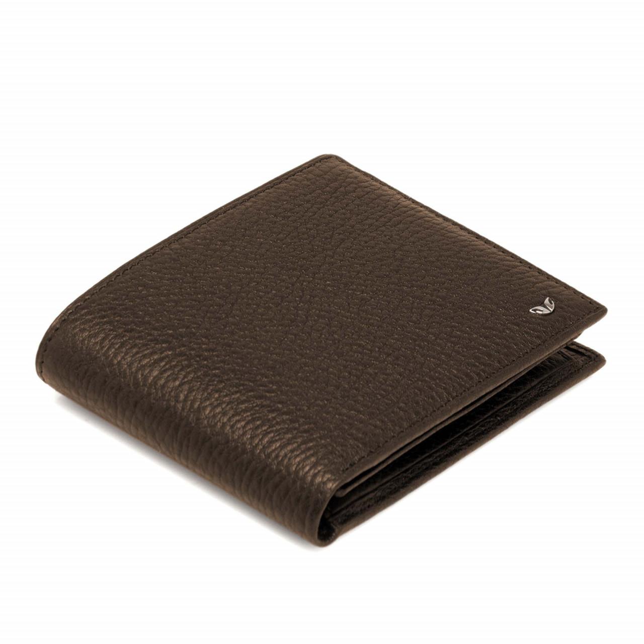 Стандартен мъжки портфейл в кафяво