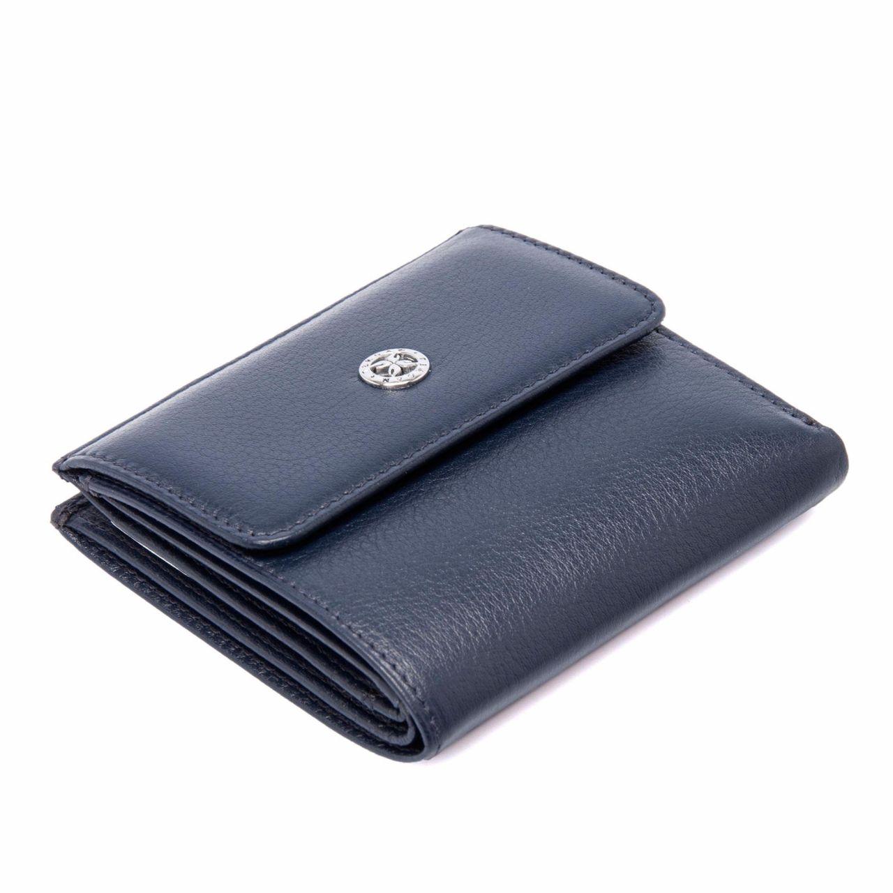 Синьо дамско портмоне с монетник