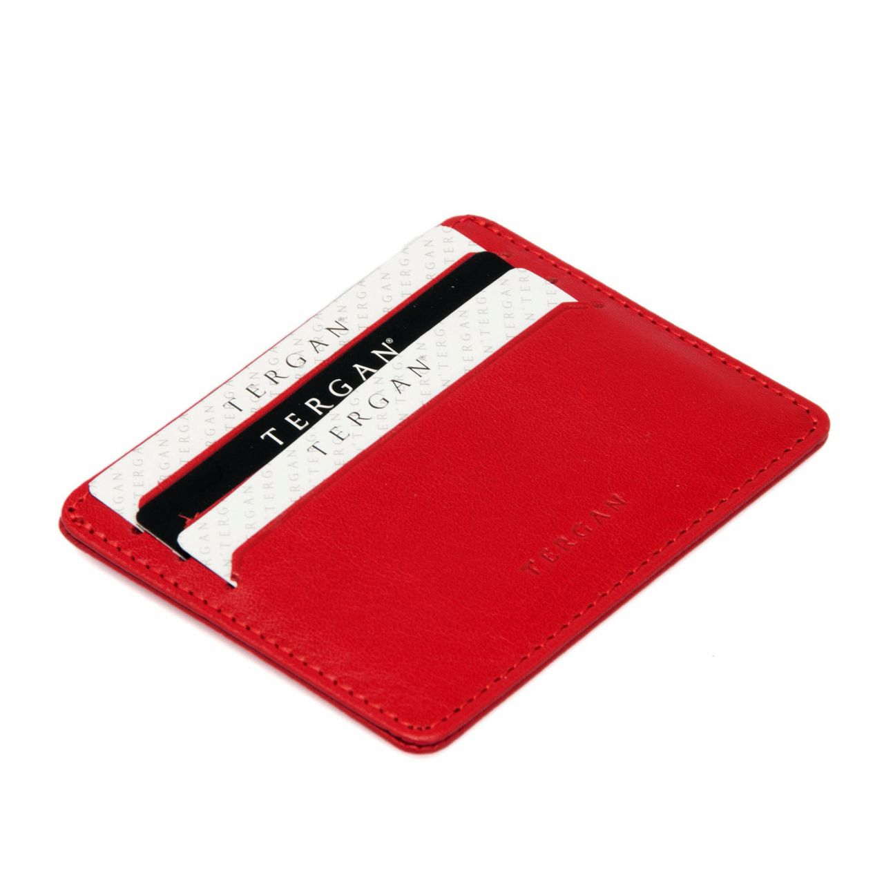 Wallet card case in red