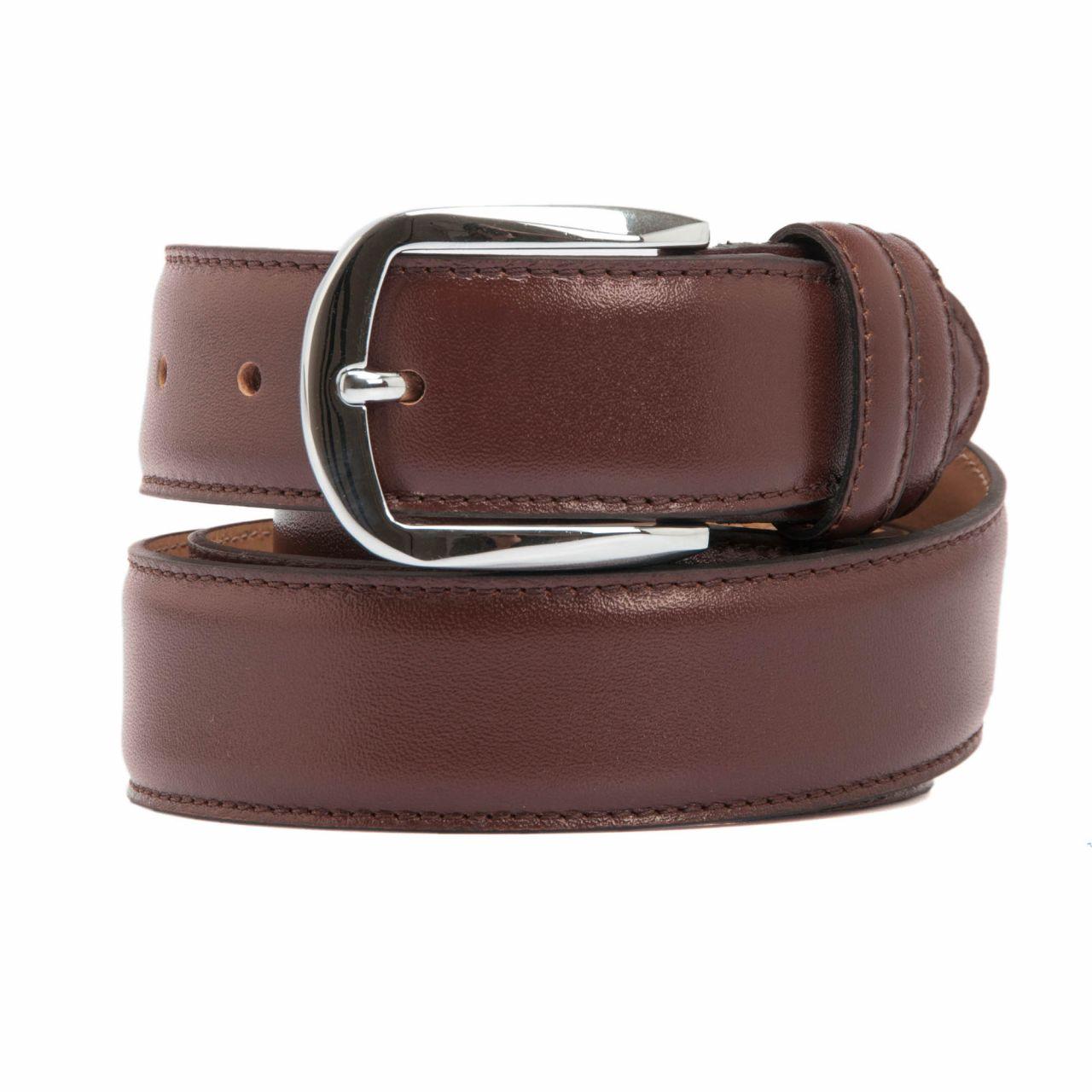 Men's belt in burgundy color