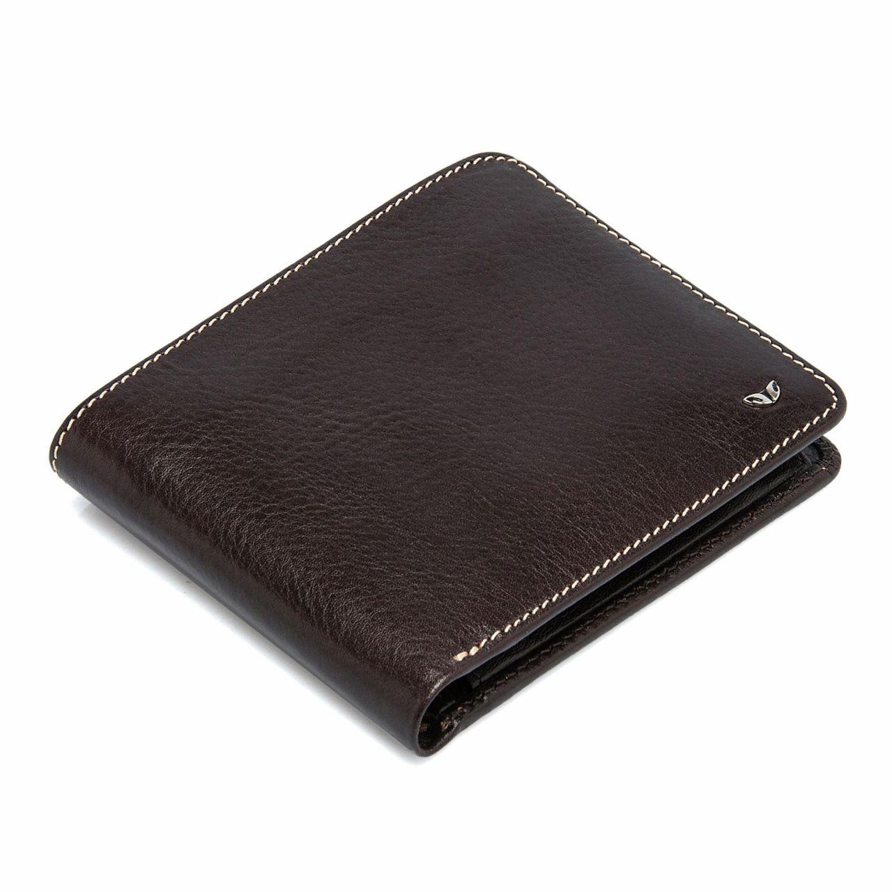 Мъжки портфейл от естествена кожа в кафяво
