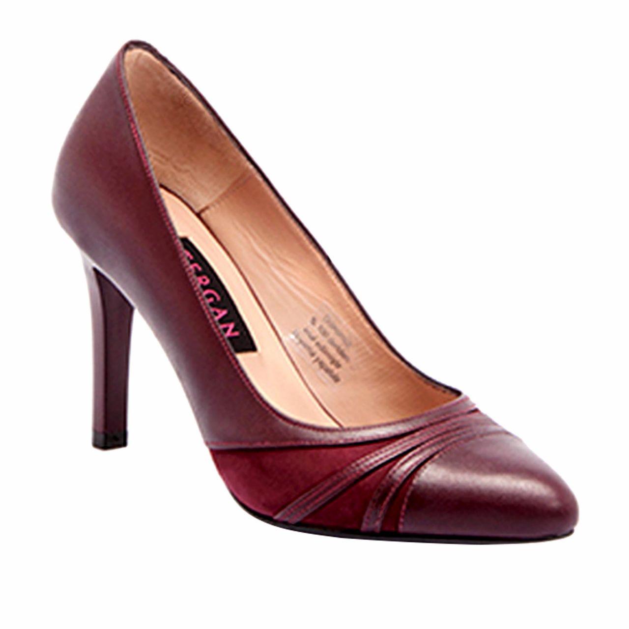 Дамски обувки от естествена кожа на висок ток