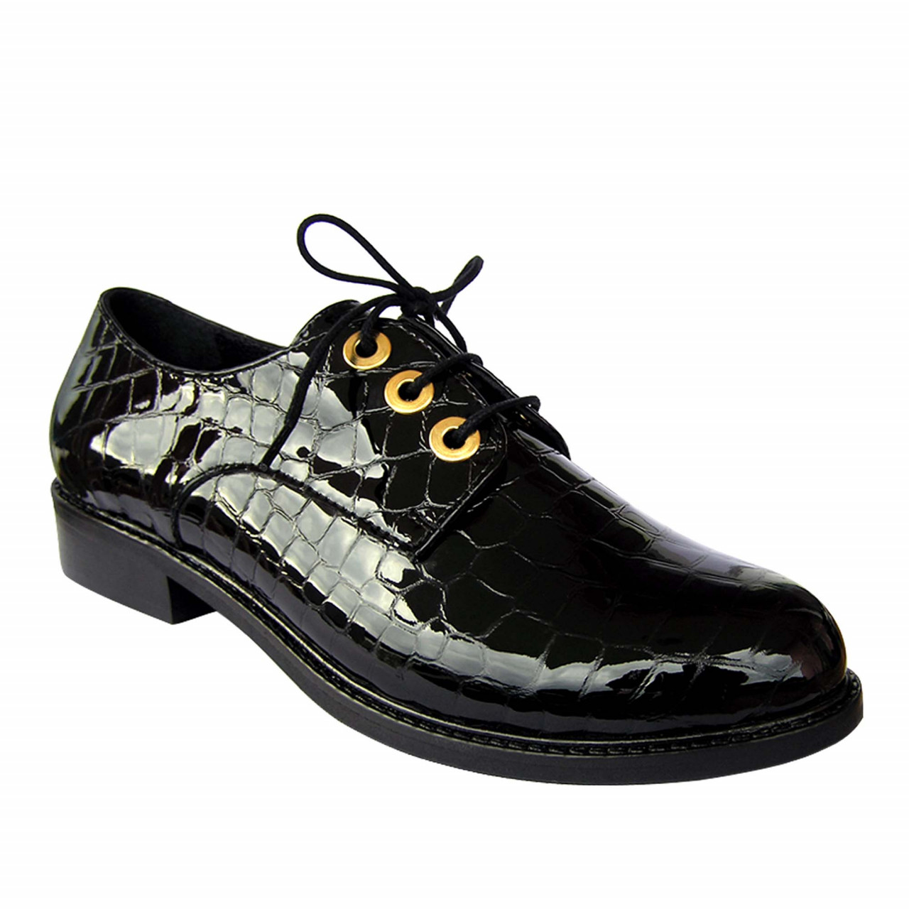 Лачени дамски зимни обувки