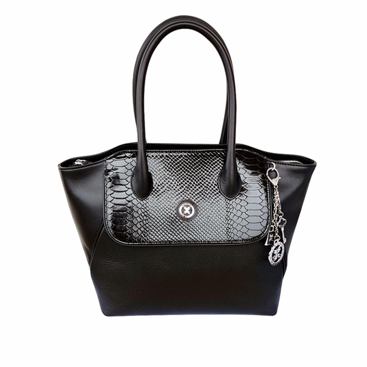 Business bag in printed calf leather
