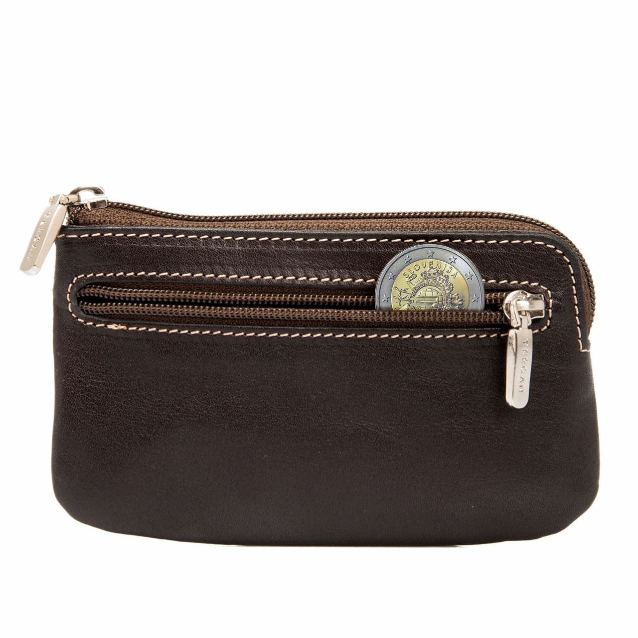 Brown Leather Classic Key Case