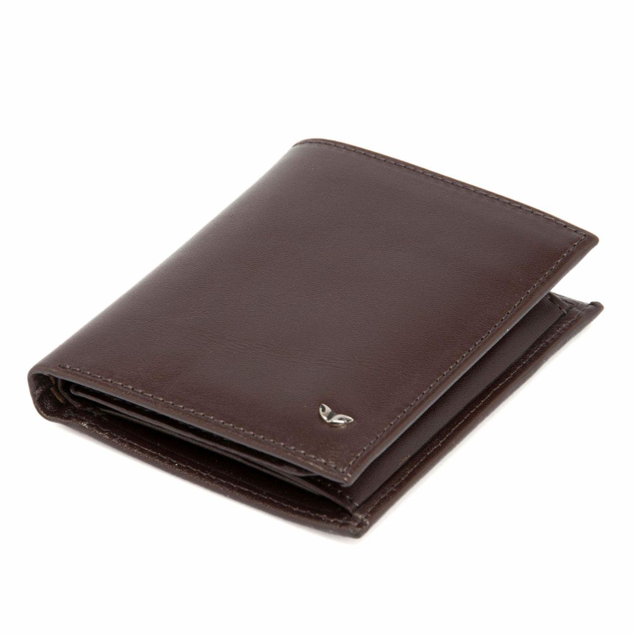 Вертикален мъжки портфейл в тъмнокафяво