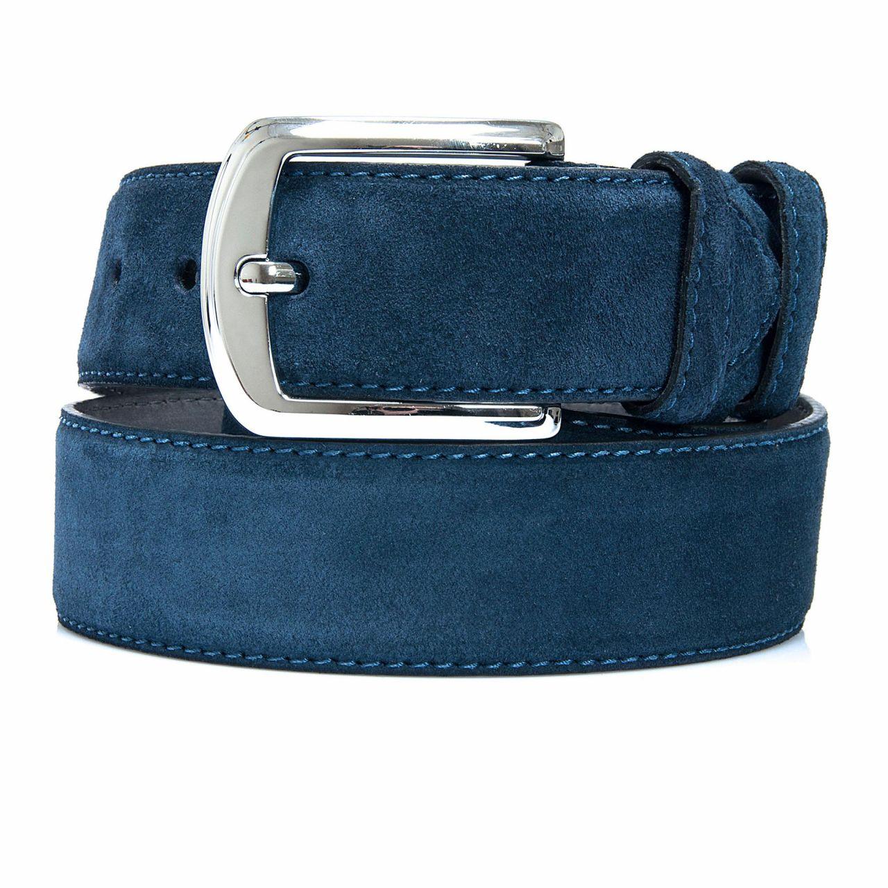 Suede Blue leather Belt