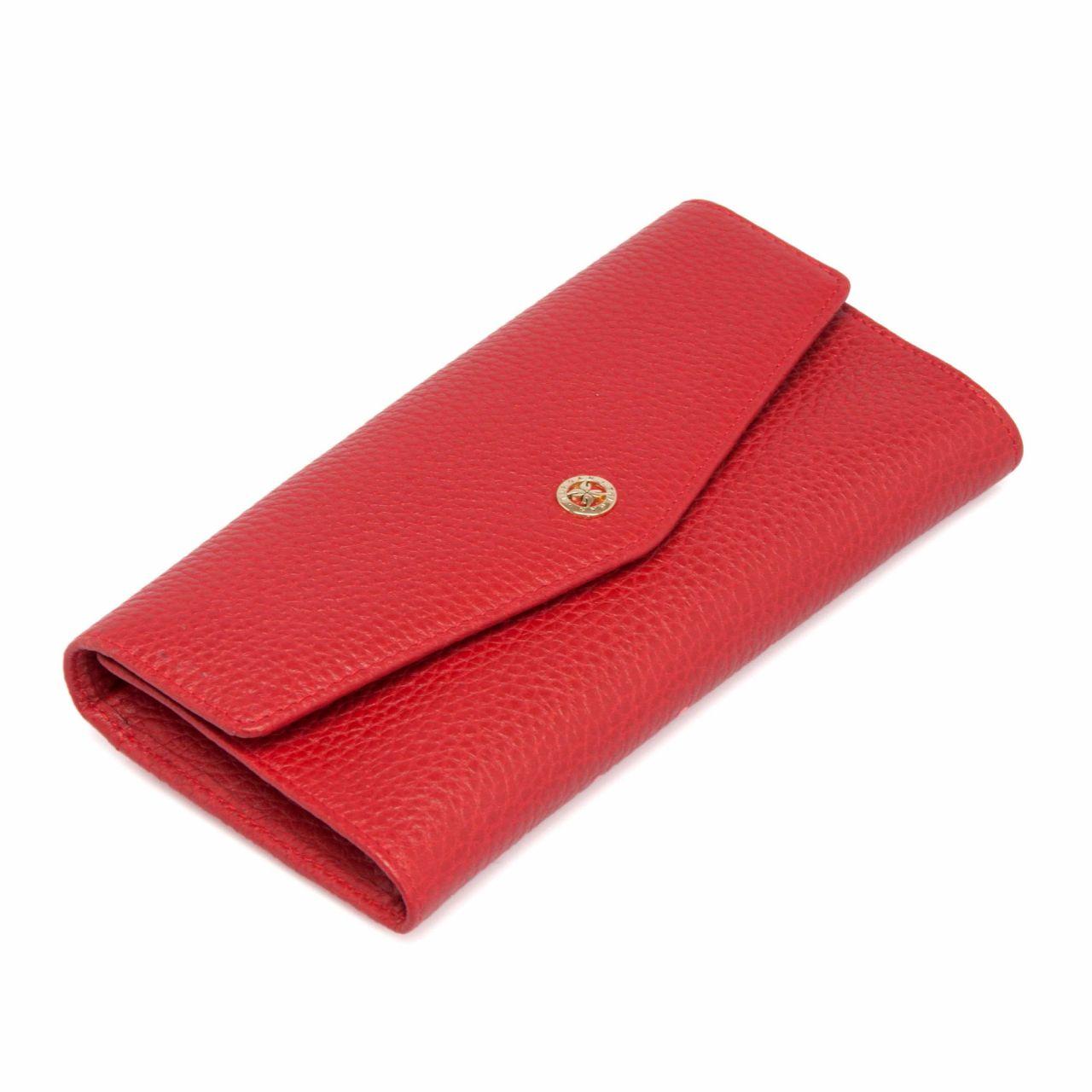Червено дамско портмоне с калъф за документи