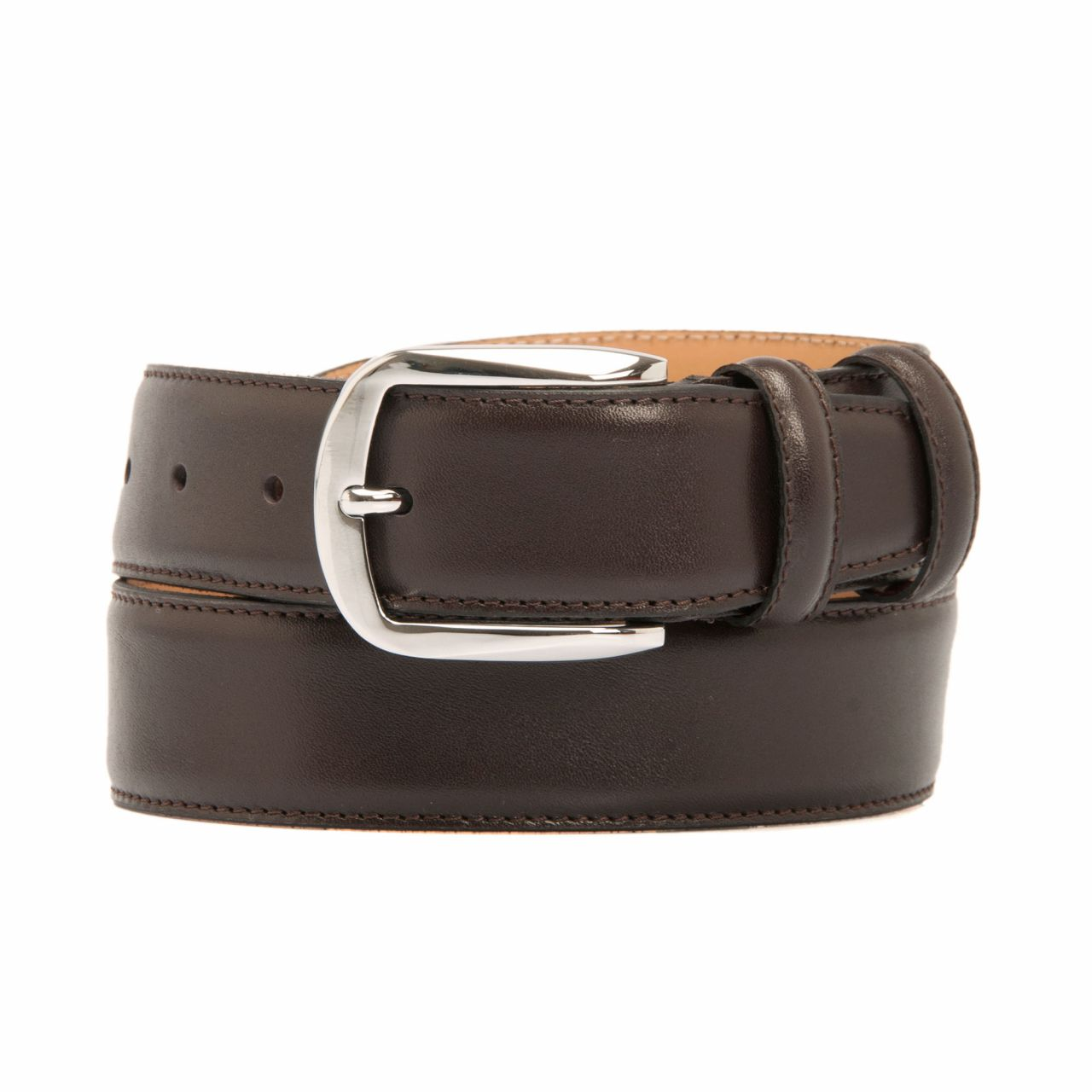 Men's dark brown belt