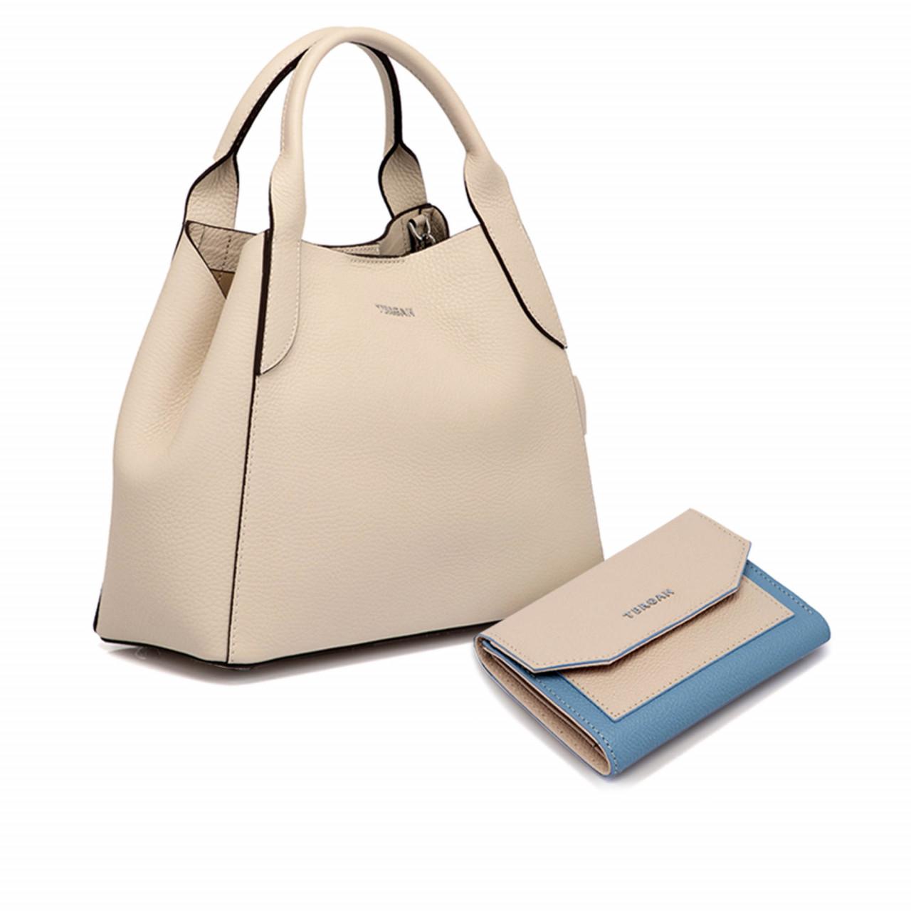 Комплект дамска чанта с портмоне