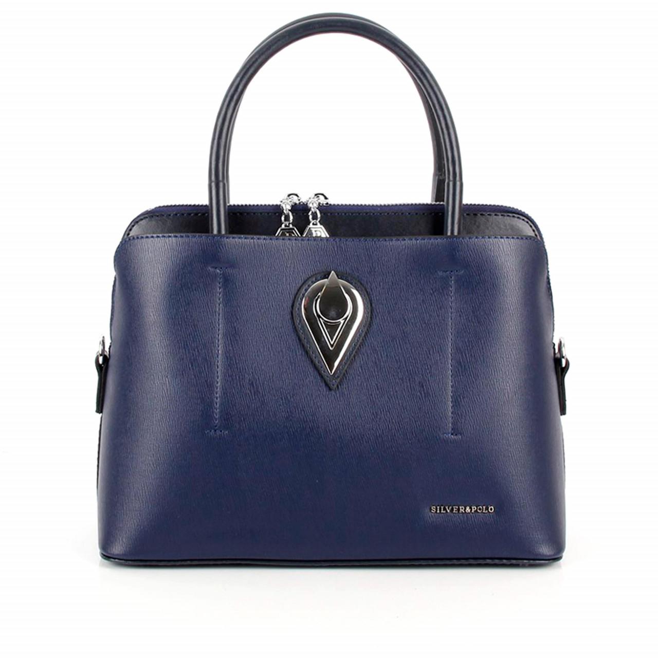 Елегантна дамска чанта в тъмносиньо