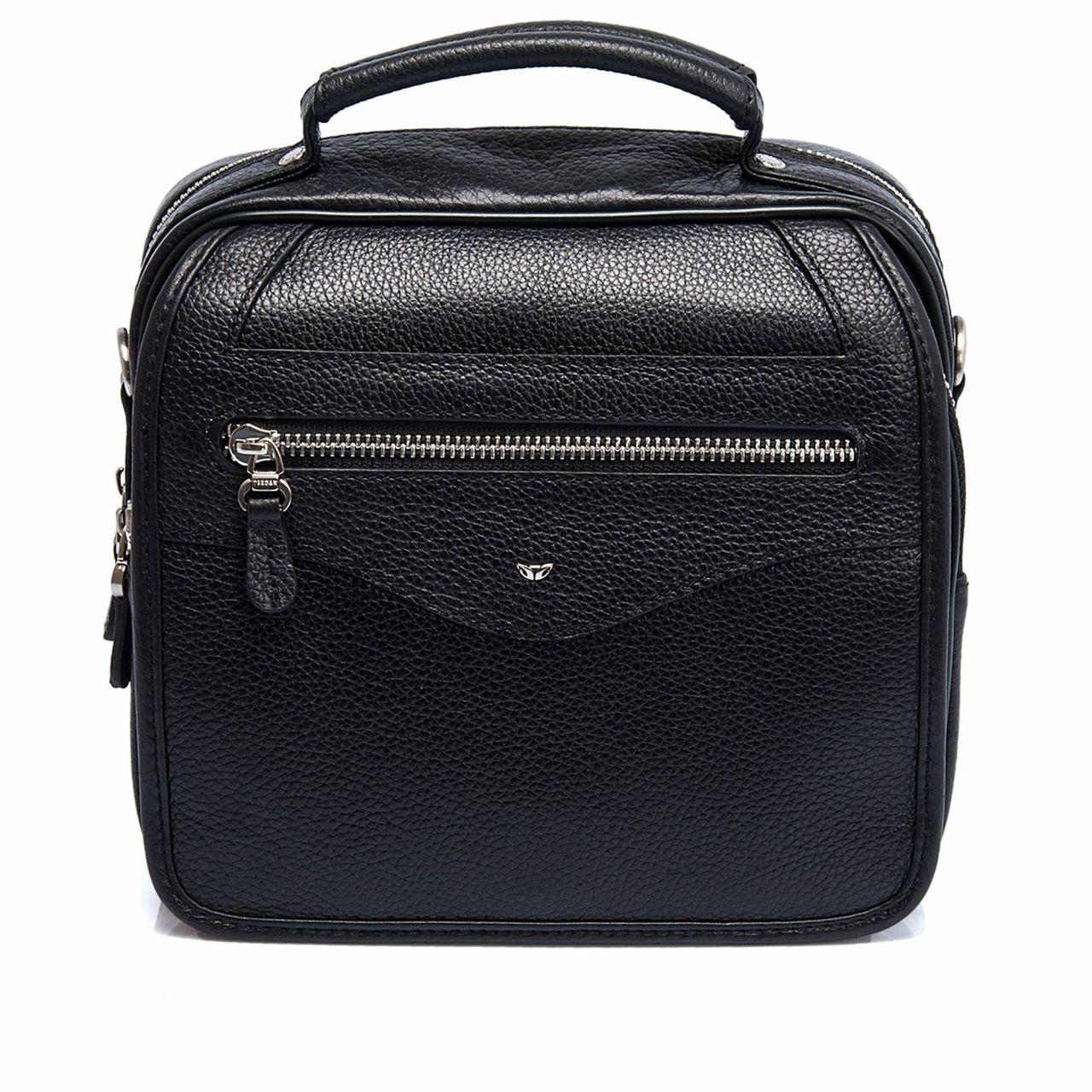 Men's genuine leather bag with shoulder strap