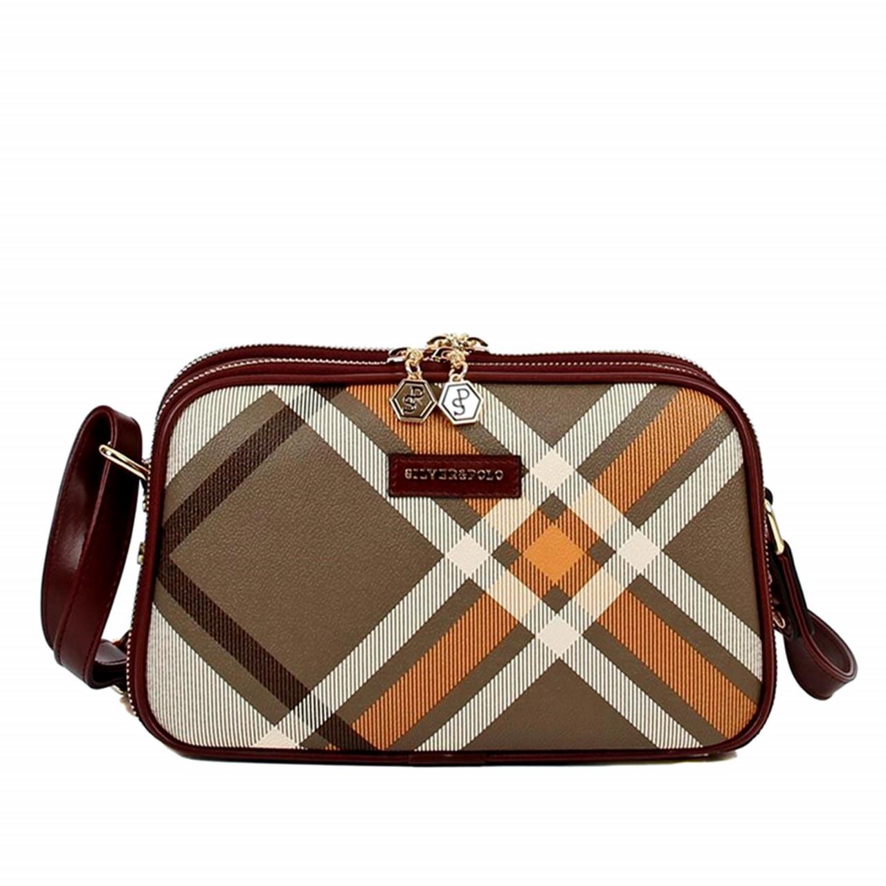 Дамска чанта за рамо - каре