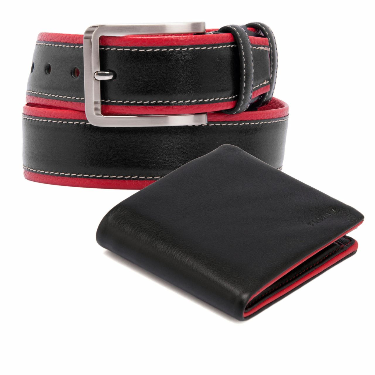 Set male wallet and belt