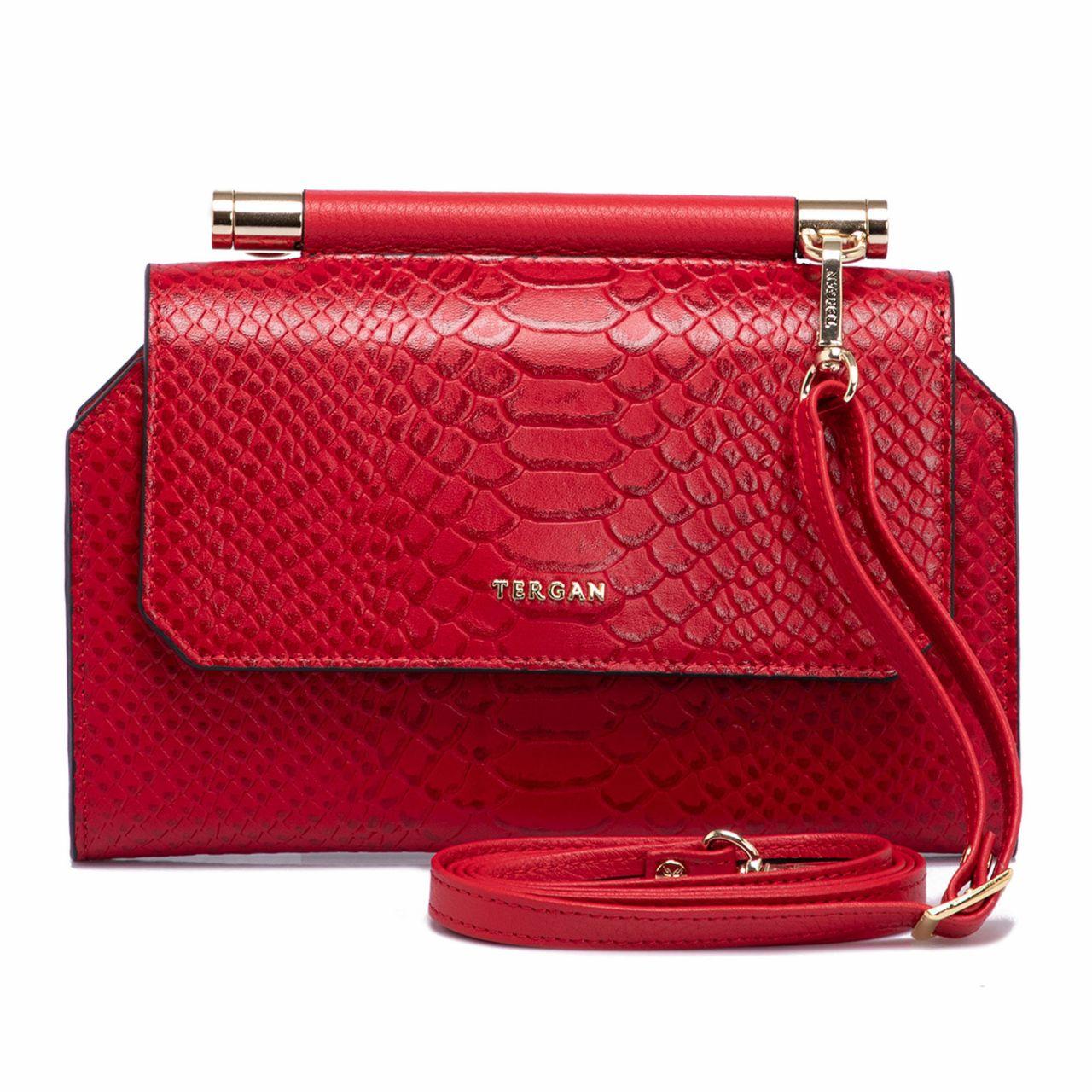 Малка червена дамска чанта