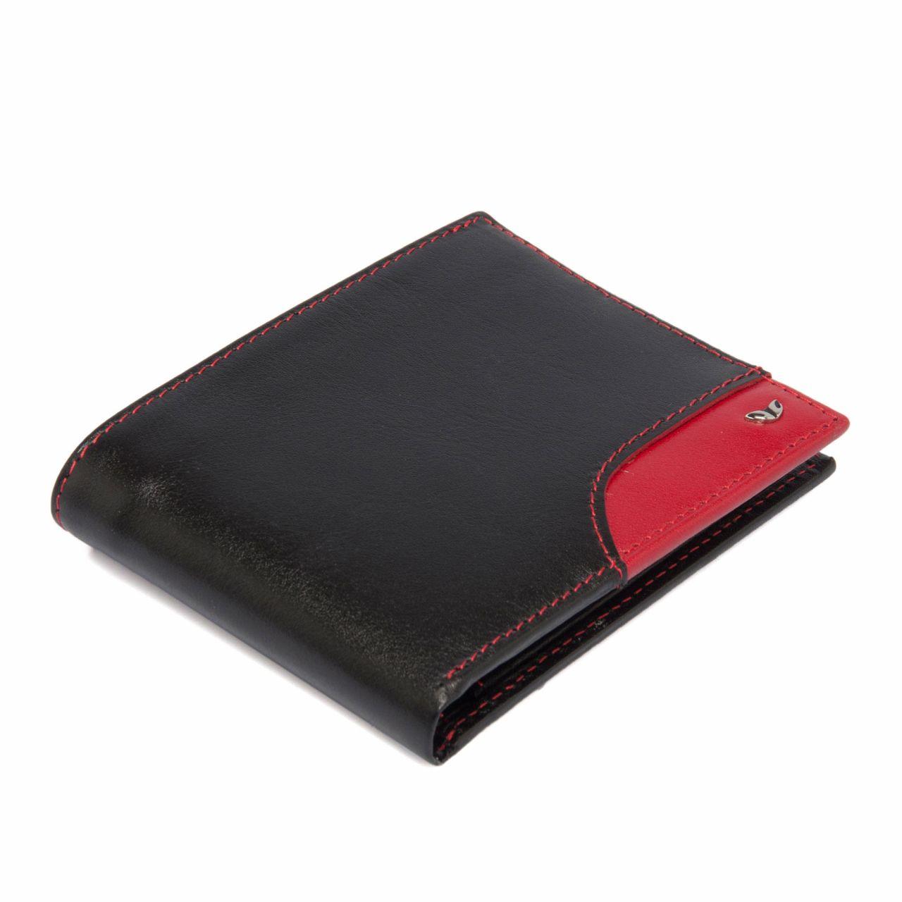 Мъжки портфейл в черно и червено