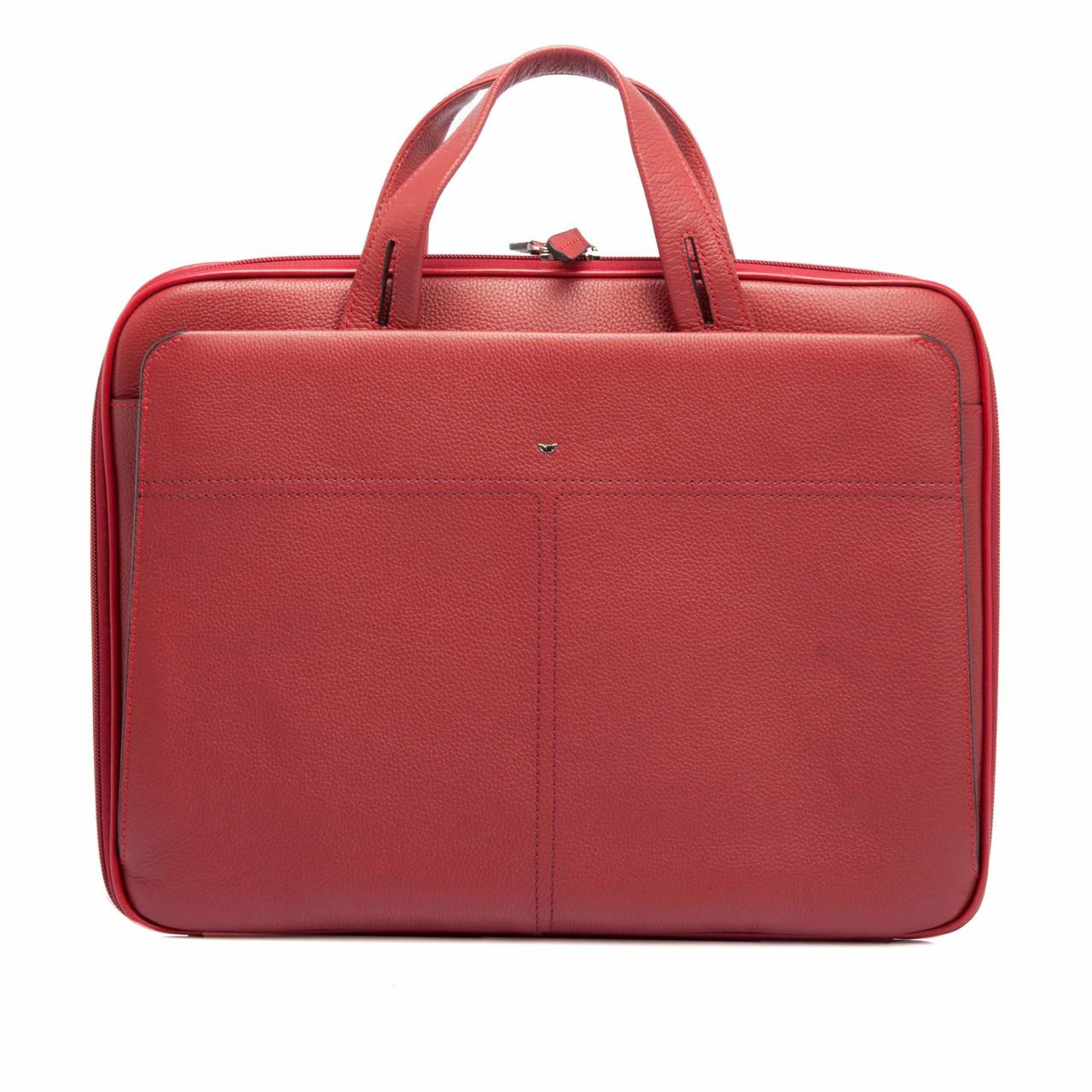 Червена дамска чанта за документи