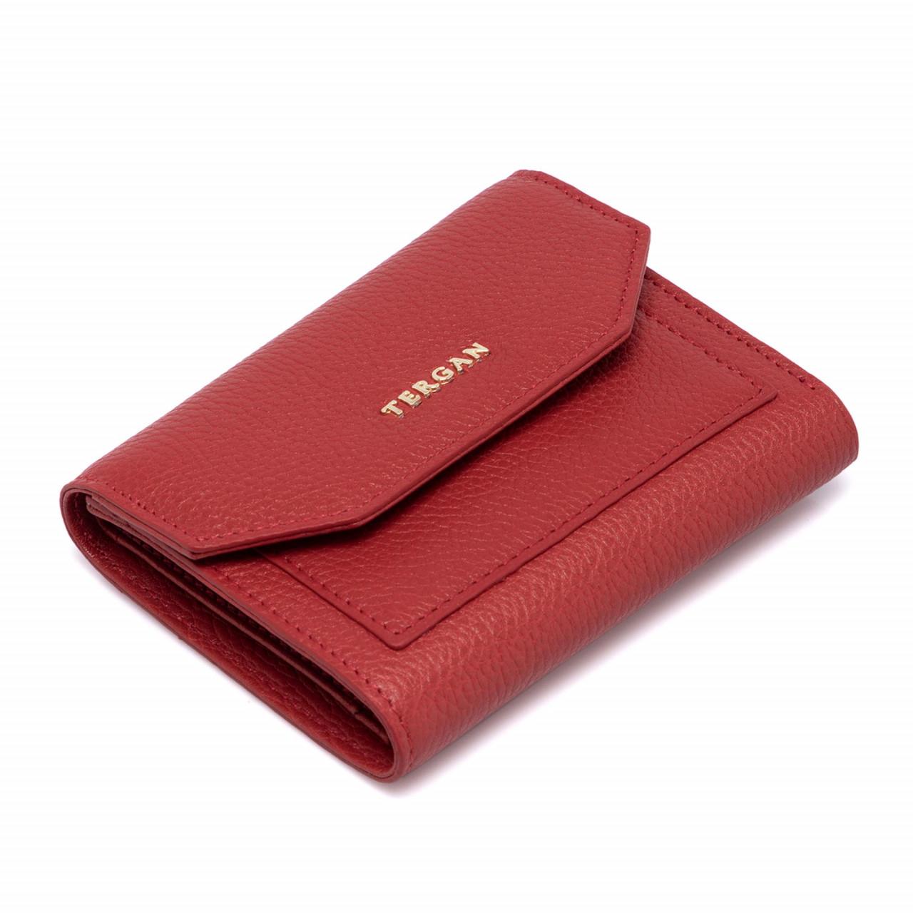 Червено дамско портмоне с външен монетник