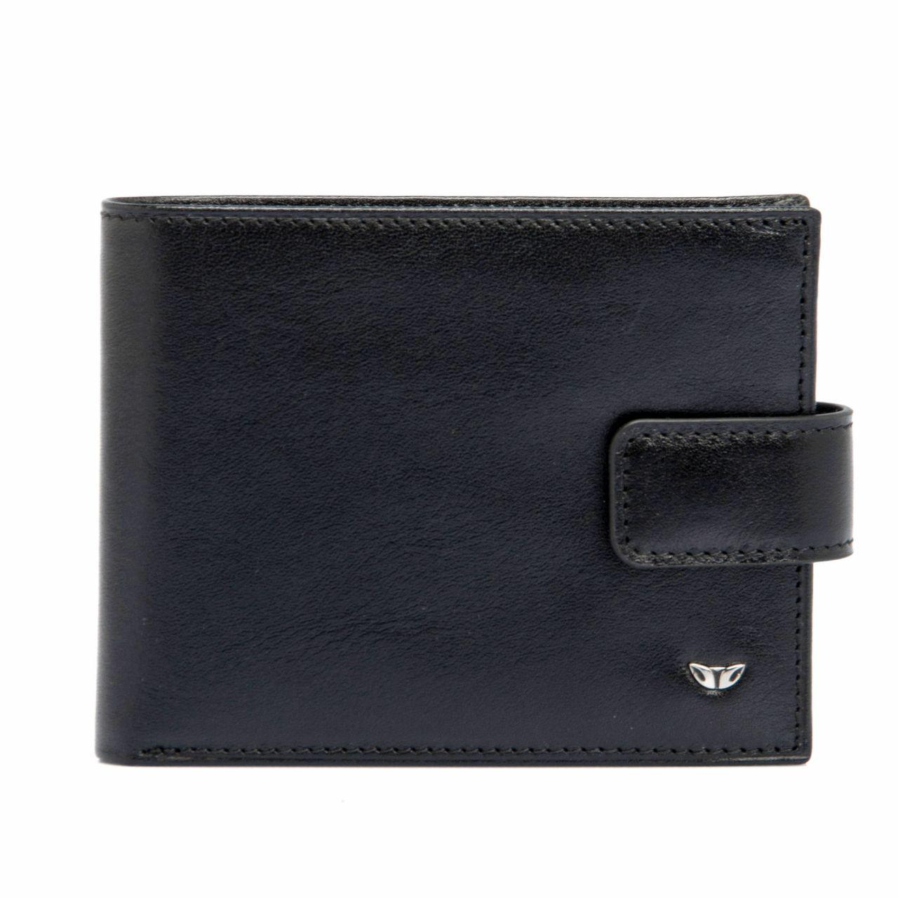 Мъжки кожен портфейл в черно