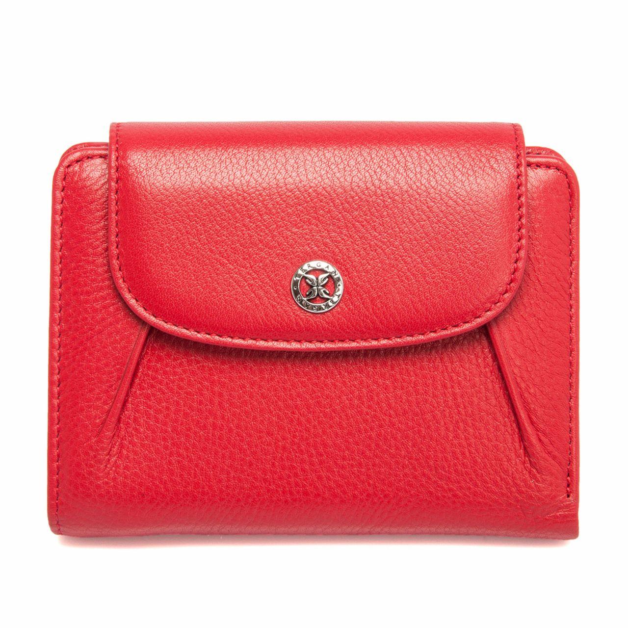 Дамско портмоне с монетник в червено