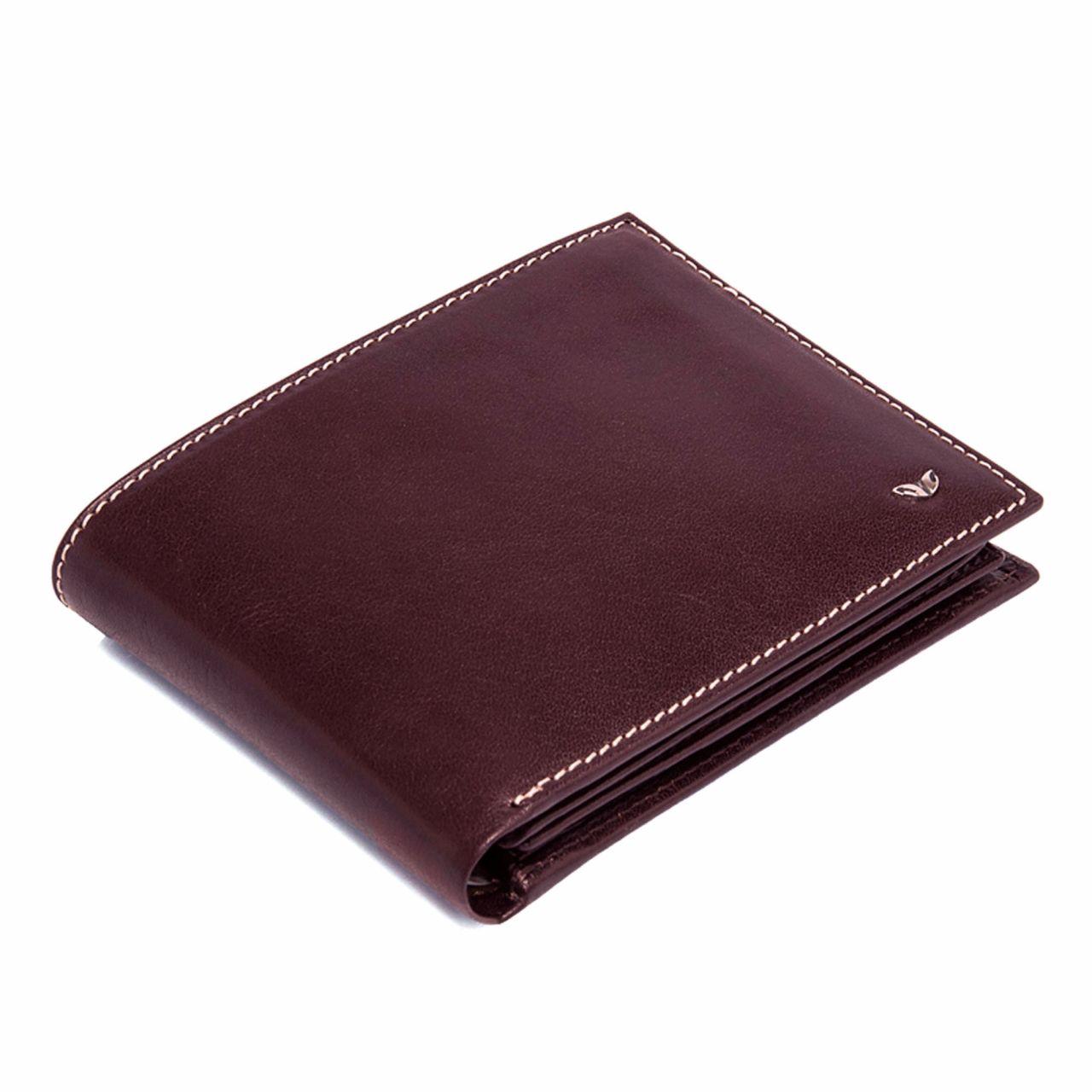 Мъжки портфейл в цвят бордо