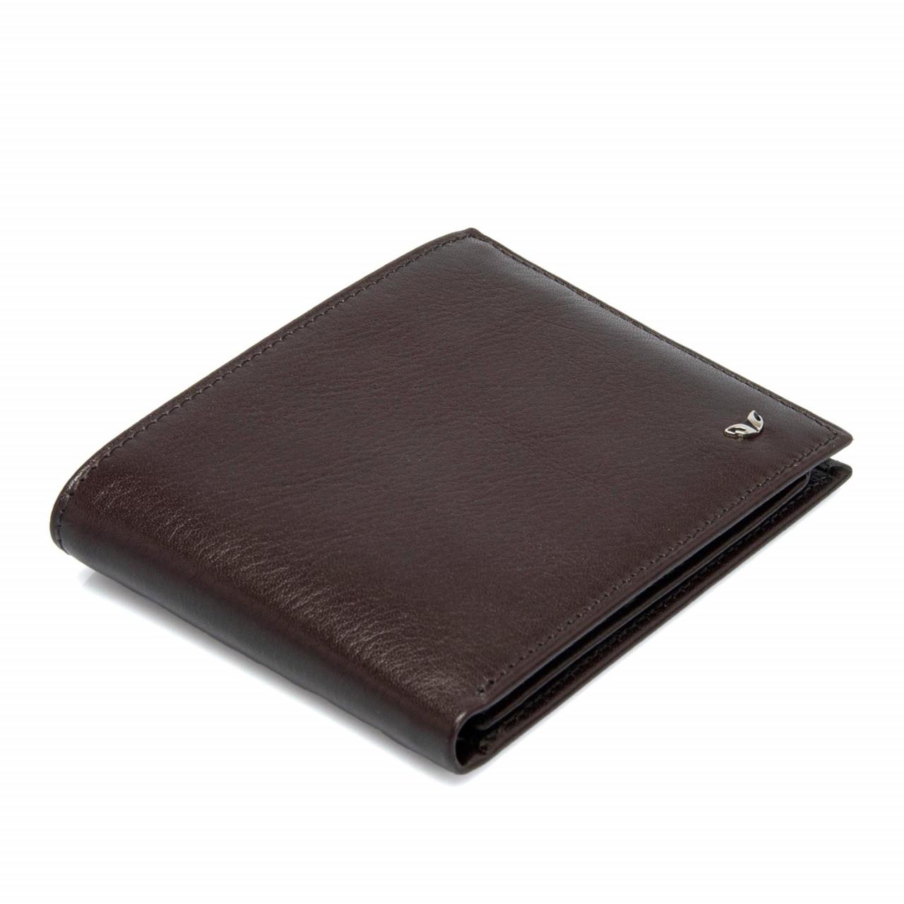 Мъжки портфейл от естествена кожа в бордо