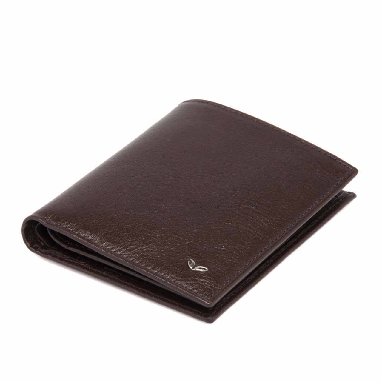 Класически мъжки портфейл в кафяво