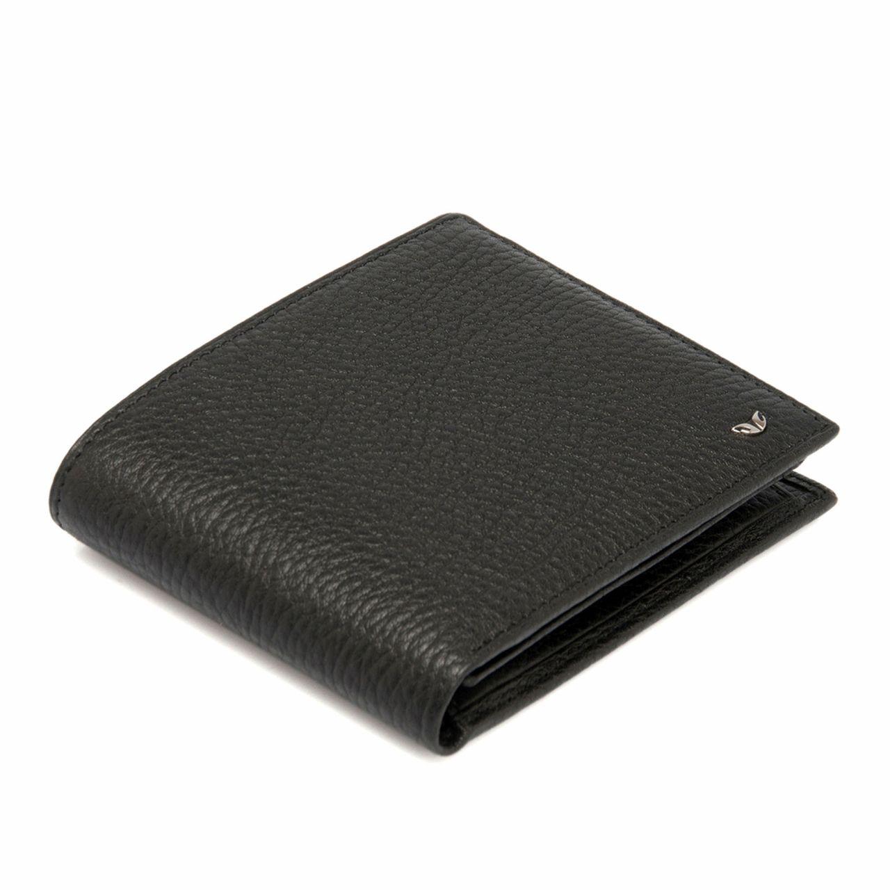 Черен мъжки портфейл от естествена кожа