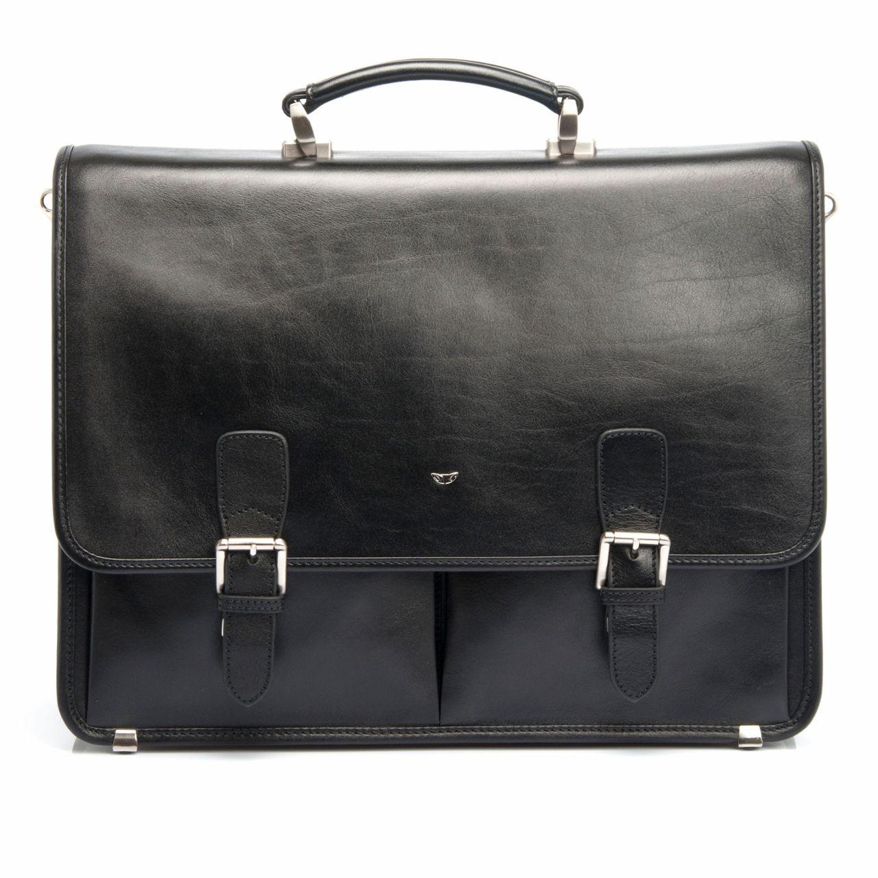 Модерна бизнес чанта за мъже от естествена кожа